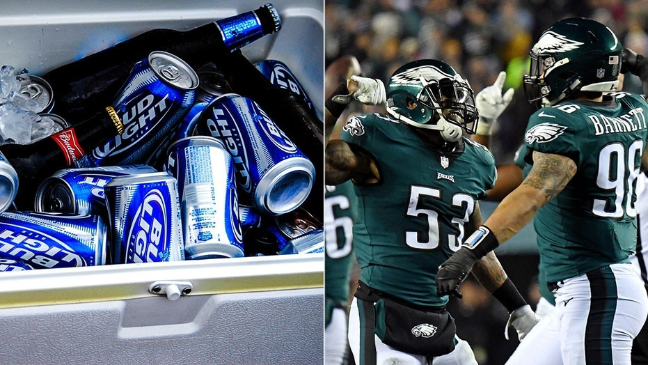 The people at Bud Light have been hinting at plans to distribute free beer to Eagles fans if the team wins its first Super Bowl championship.