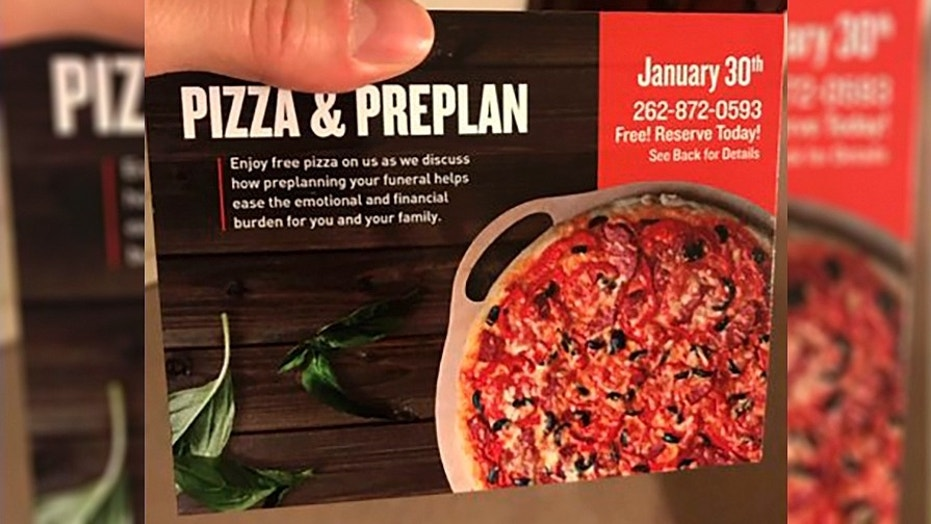 A funeral home in Wisconsin is offering pizza as a way to encourage people to pre-plan their funerals