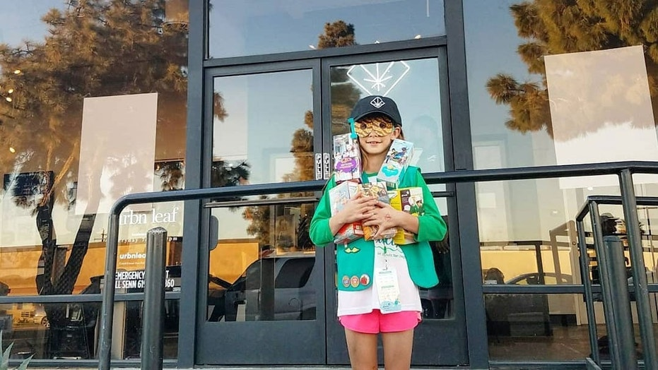 An entrepreneurial young Girl Scout in San Diego set up something of a one-stop shop for Urbn Leaf customers over the weekend.