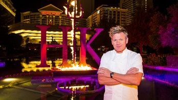 LAS VEGAS, NV - April 28, 2017: ***HOUSE COVERAGE*** Gordon Ramsay pictured as  Chef Gordon Ramsay announces the world's first Hell's Kitchen Restaurant at Caesars Palace in Las vegas, NV on April 28, 2017. Credit: Erik Kabik Photography/ MediaPunch/IPX