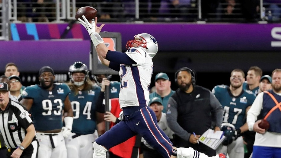 New England Patriots quarterback Tom Brady failed to catch a pass during Super Bowl LII.
