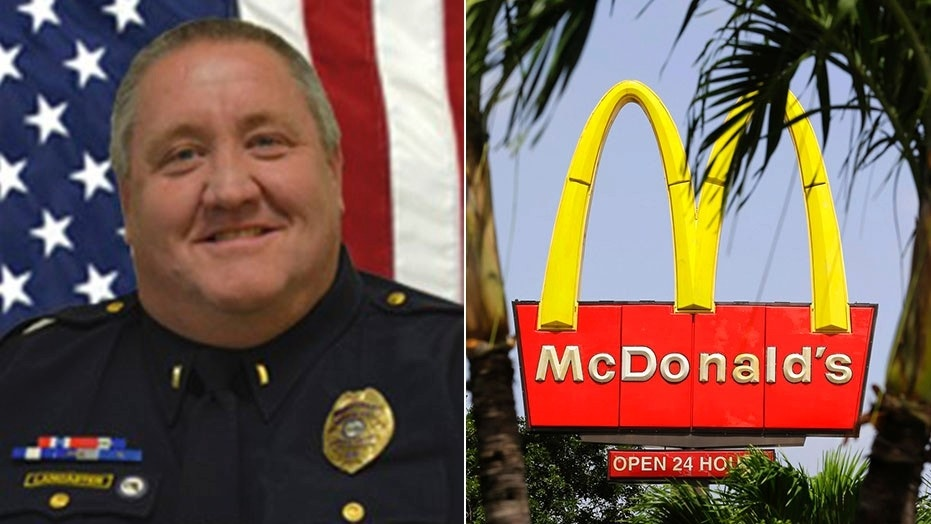 Lt. Tim Lancaster, of the Palm Bay Police Department, claims that he was denied service at a Florida McDonald's restaurant for being a police officer.