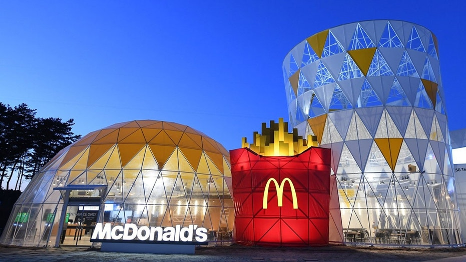 The McDonald's at the Olympic Village in Gangneung resembles a super-sized meal.