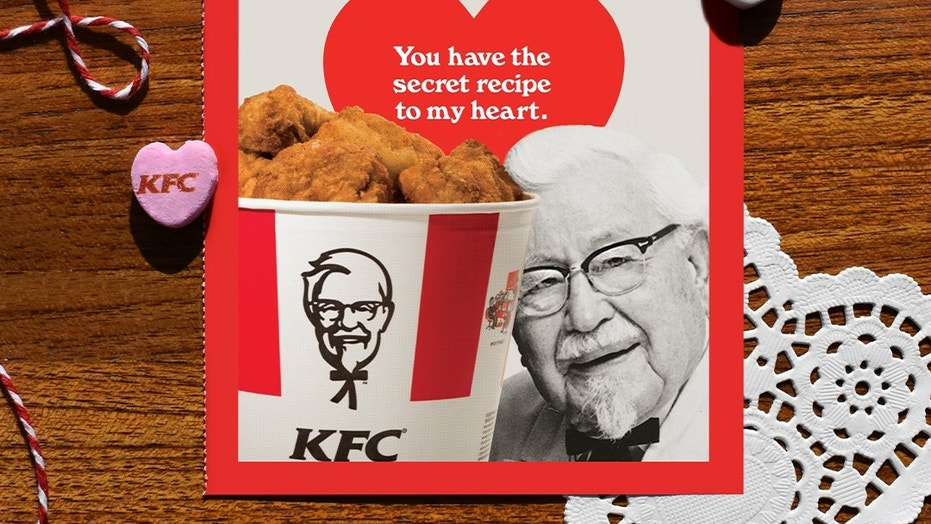 KFC offers scratch 'n' sniff Valentine's Day cards - that smell like chicken