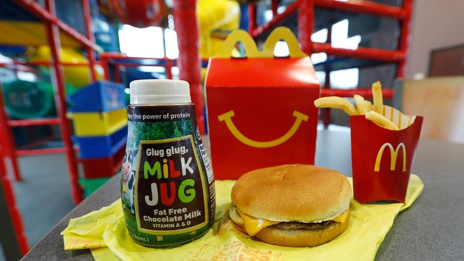 McDonald's Happy Meal menu bans cheeseburgers, chocolate milk