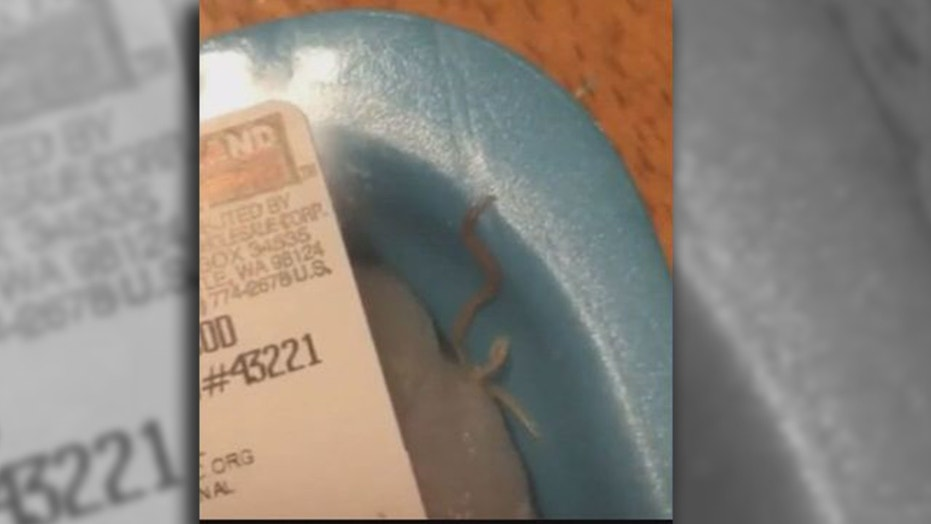 Emily Randolph claims to have found a live worm in a package of Atlantic cod she purchased from Costco two weeks ago.