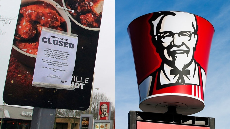 Hundreds of KFC locations in the U.K. were closed after a problem with the restaurants' new delivery provider resulted in a chicken shortage.