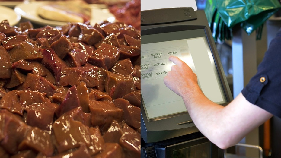 A man tried to pass off veal liver as fruit at the grocery store self check-out and ended up in jail.