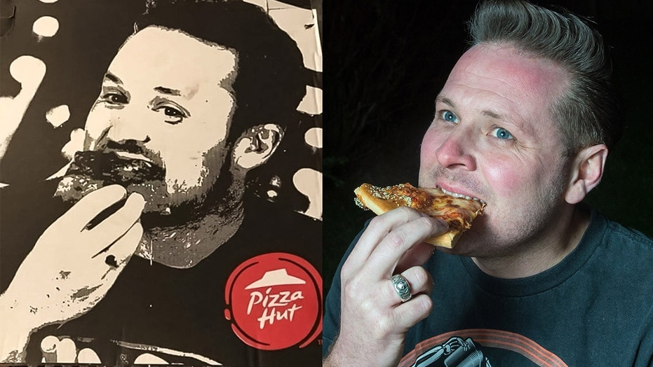 A U.K. man is convinced Pizza Hut put his photo on their pizza boxes, but the company claims it's a photo of an employee.