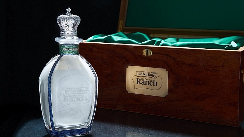 Hidden Valley is gifting the Prince Harry and Meghan Markle a $35,000 jewel-encrusted bottle of ranch, and you can win one too.