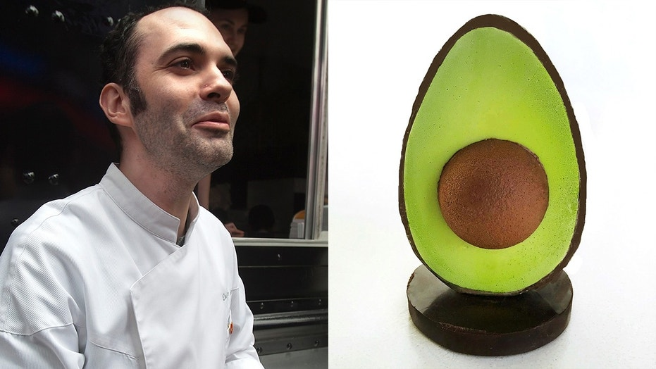 """Cronut creator Dominique Ansel's newest """"Huevocado"""" creation resembles an avocado in everything but taste."""