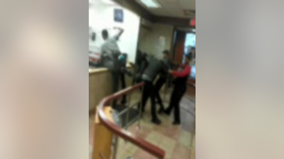 A customer at a Wendy's in Milwaukee filmed the scene as it unfolded on Monday night. (Images have been intentionally blurred to obscure some participants, who are believed to be underage.)
