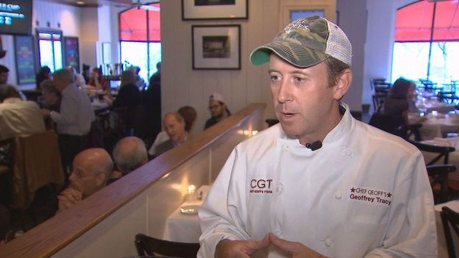Chef Geoff Tracy has filed a lawsuit against Virginia claiming his First Amendment rights are being violated due to the state's law on happy hour advertising.