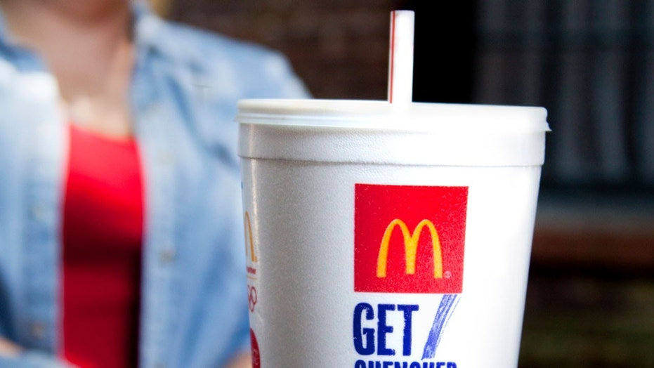 The chief executive officer of McDonald's U.K. said the company plans to swap in biodegradable paper straws at some stores in May.
