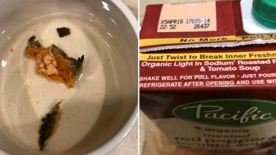 An Oregon woman filed a lawsuit Monday, claiming she found mouse guts in a carton of Pacific Foods soup.