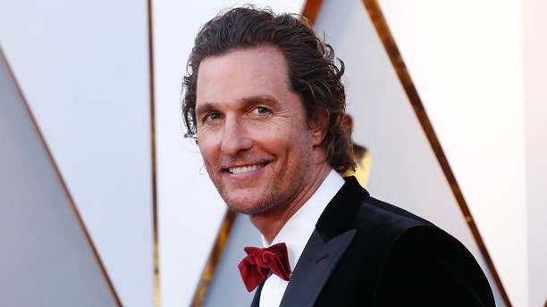 90th Academy Awards - Oscars Arrivals – Hollywood, California, U.S., 04/03/2018 – Matthew McConaughey. REUTERS/Mario Anzuoni - HP1EE3502BOOO
