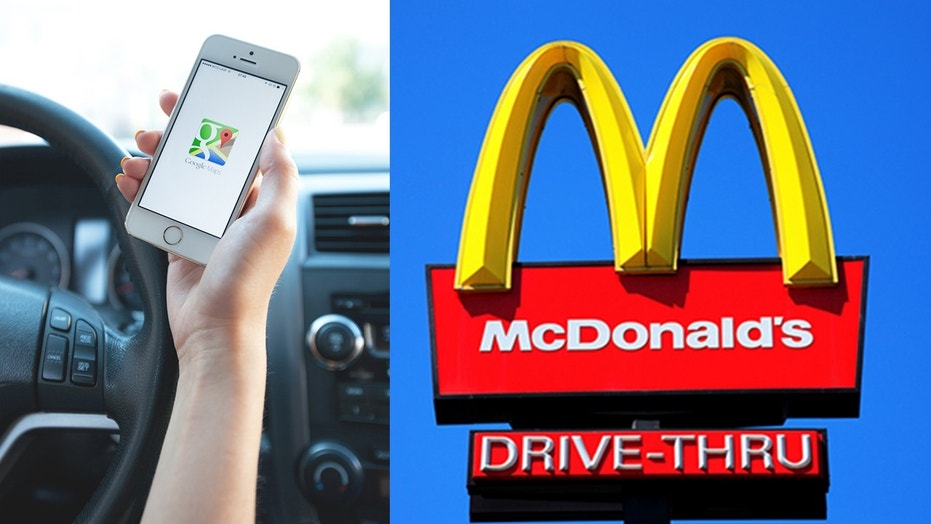 Google Maps to drivers: Turn right at the Burger King