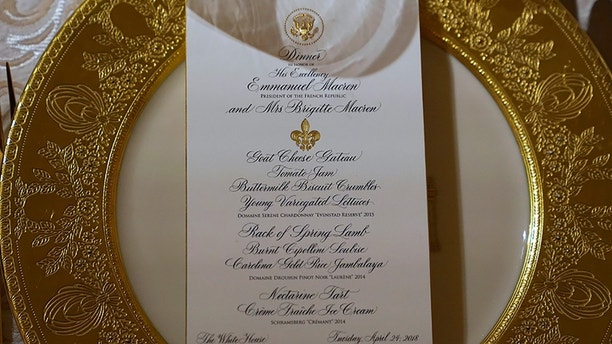 state dinner menu closeup reuters