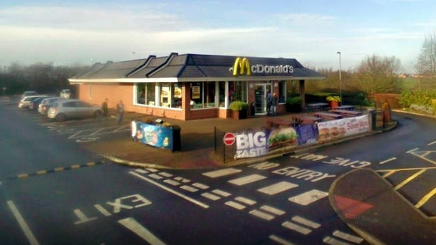 Mcdonald's in Glinton, Cambs. See Masons copy MNBUG: A teenager was left shocked and disgusted after biting into a large bug which was in his McDonald's Chicken Legend meal. Connor Ribbons (15) and mum Anita could not believe their eyes when they discovered the creature after visiting the drive-thru at Glinton on Saturday night at around 10.45pm.