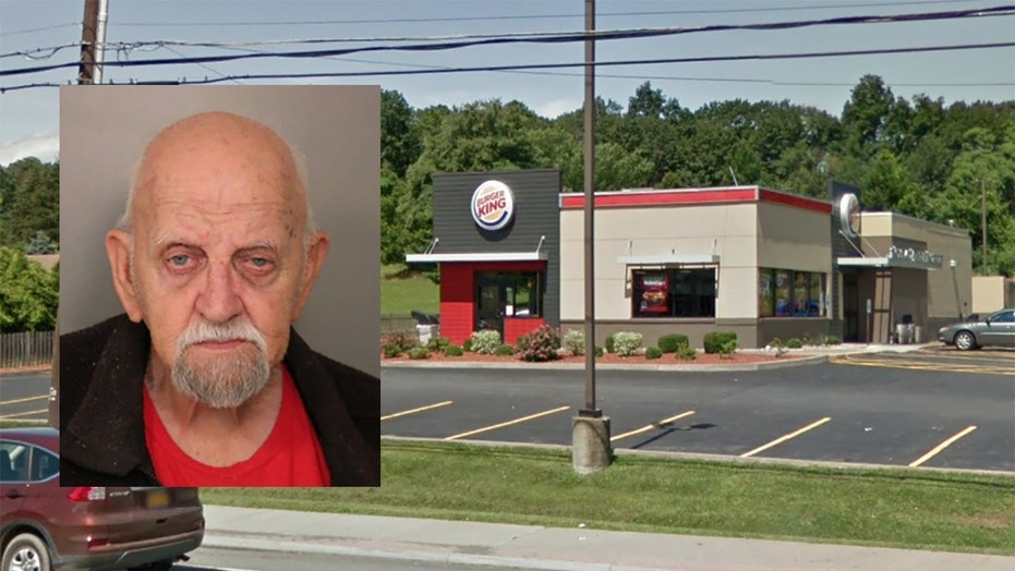 Henry Crobok, 79, was charged with criminal mischief after he was caught pruning the restaurant's trees.