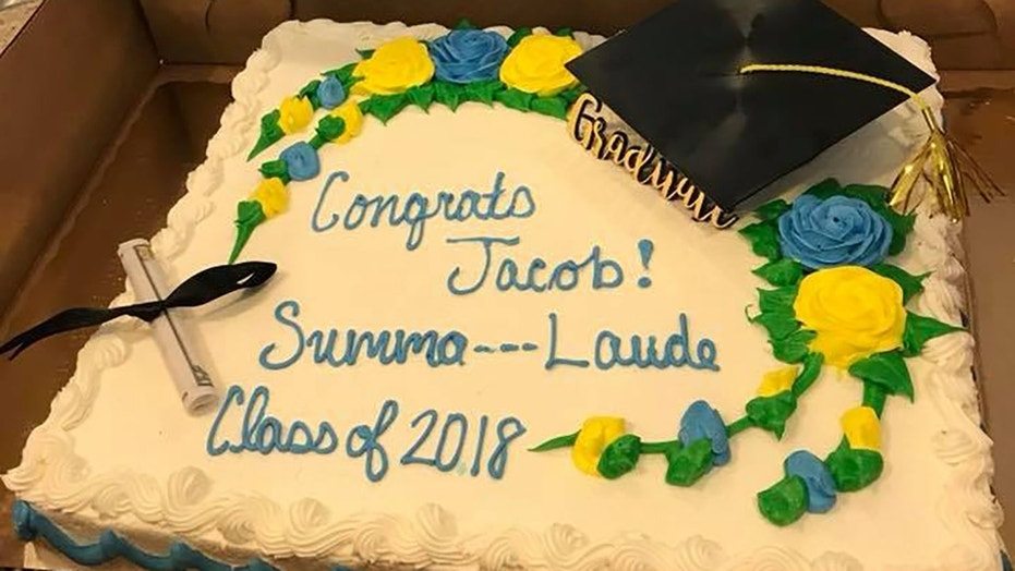The cake that was meant for a Summa Cum Laude graduate was censored.