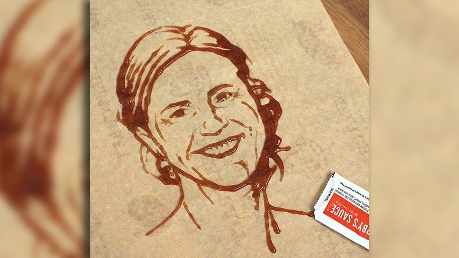 The Home of the Meats is now the home of the sauce art after an impressive sketch of Brandi Chastain.