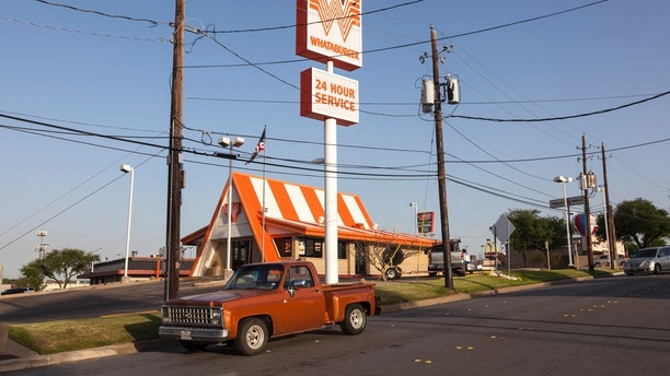 Fort Worth, Tx, USA - April 6, 2016: American fast food chain restaurant Whataburger in Fort Worth, Texas, United States