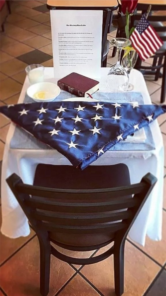 Chick-fil-A honors fallen soldiers with special empty table
