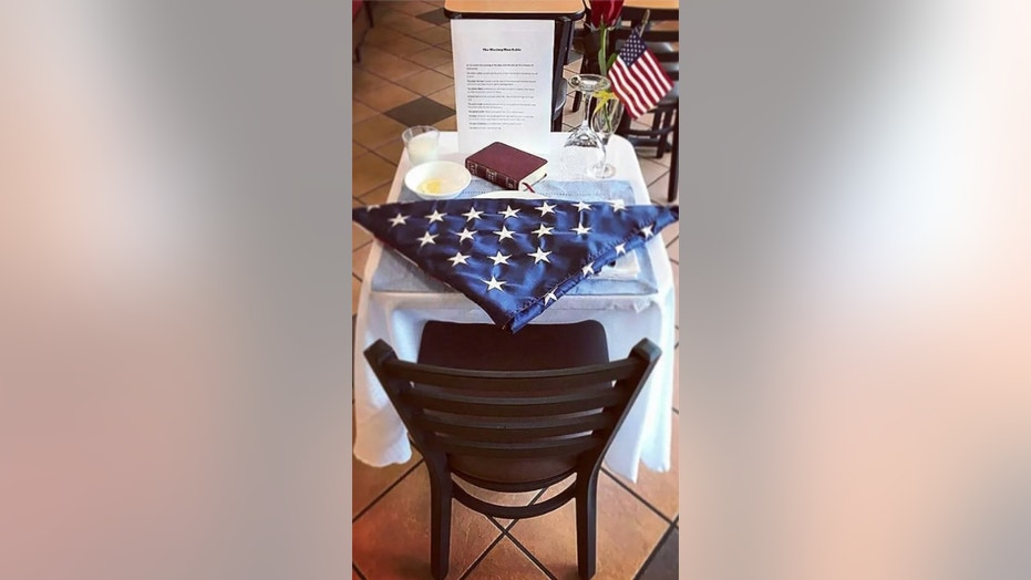 Several Chick-fil-A restaurants set a special table for fallen soldiers on Memorial Day.