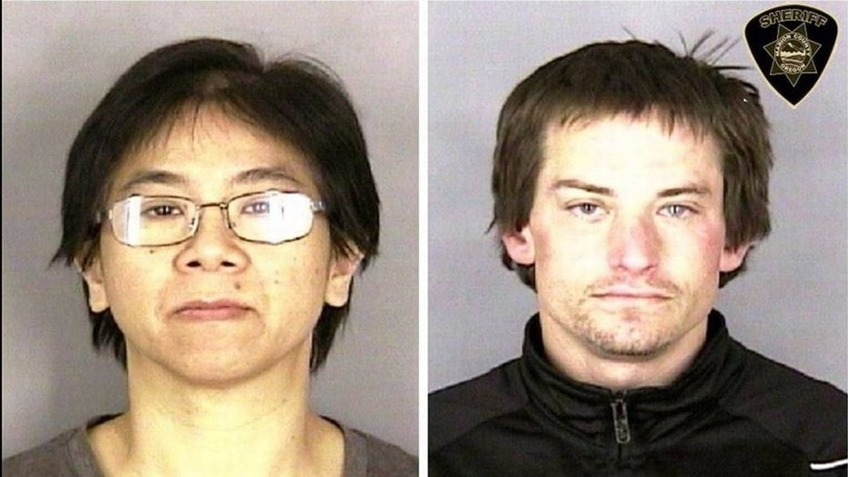 An angry employee, Chan Tran (left), hired a homeless man, Conan Dehut (right), to help her pretend to rob the restaurant where she worked.