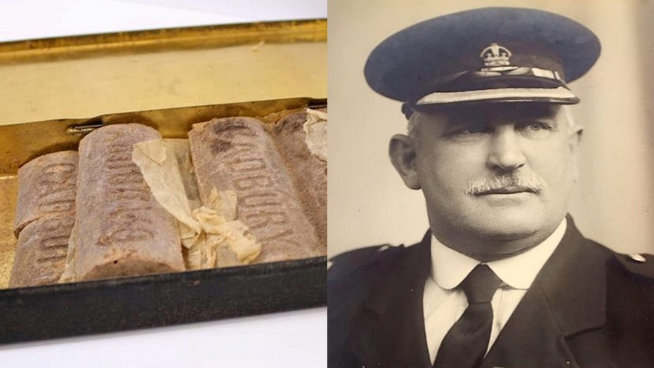 The chocolate, given to a soldier with the British Army, was reportedly part of a Christmastime gift given out to his regiment.