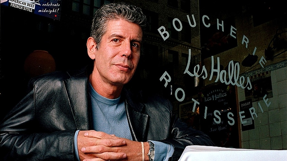 The long-ago closed Les Halles restaurant in Manhattan, where Bourdain once worked as executive chef, has been transformed into a memorial.