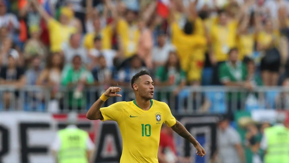 How much time has Neymar wasted at World Cup 2018?