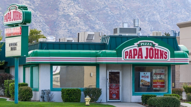 Papa John's restaurant exterior. Papa John's Pizza is the fourth largest take-out and pizza delivery restaurant chain in the United States