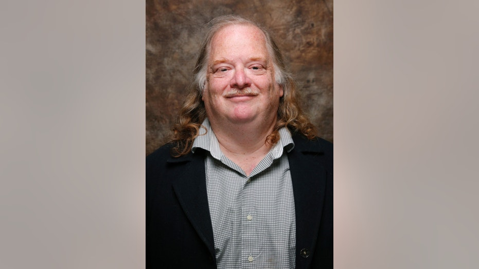 "Jonathan Gold, from the movie "" CITY OF GOLD"" poses at the L.A. Times photo & video studio at the Sundance Film Festival, in Park City, Utah in 2015."