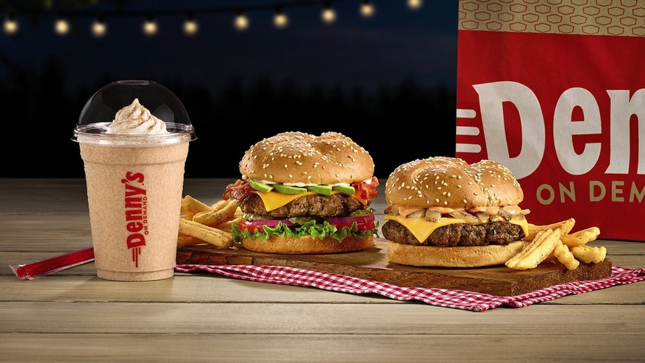 """Denny's is touting an """"even tastier burger line-up"""" with the addition of three new varieties to its all-day menu."""