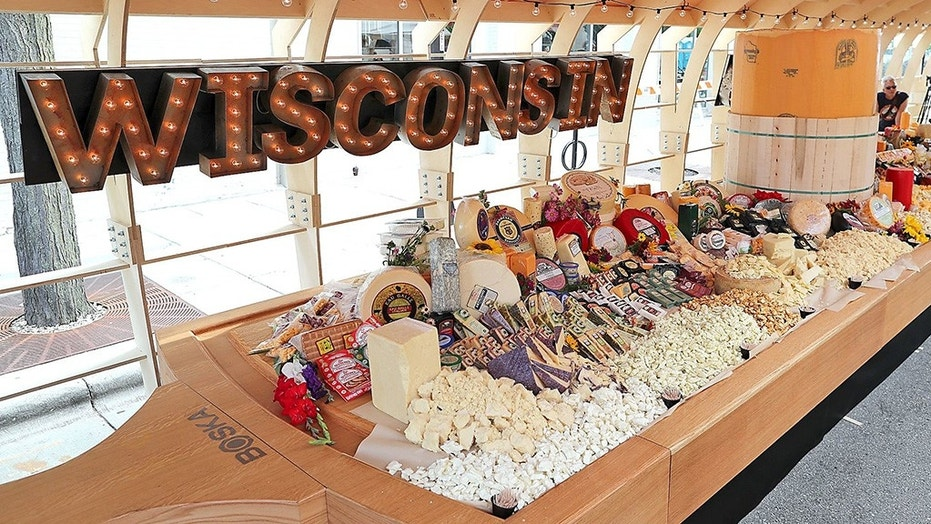 A massive two-ton cheese board assembled in Wisconsin has officially set a new world record.