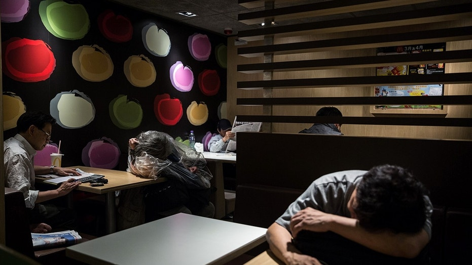 According to a new study, 84 of 110 24-hour fast food branches have seen regular overnight sleepers.