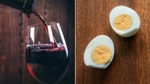 wine and eggs