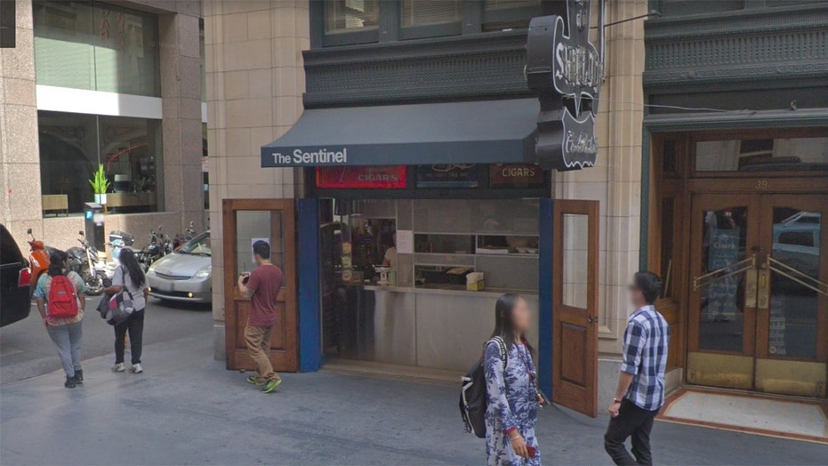 The Sentinel, a sandwich shop in San Francisco's financial district, is making its feelings known about the upcoming ban.