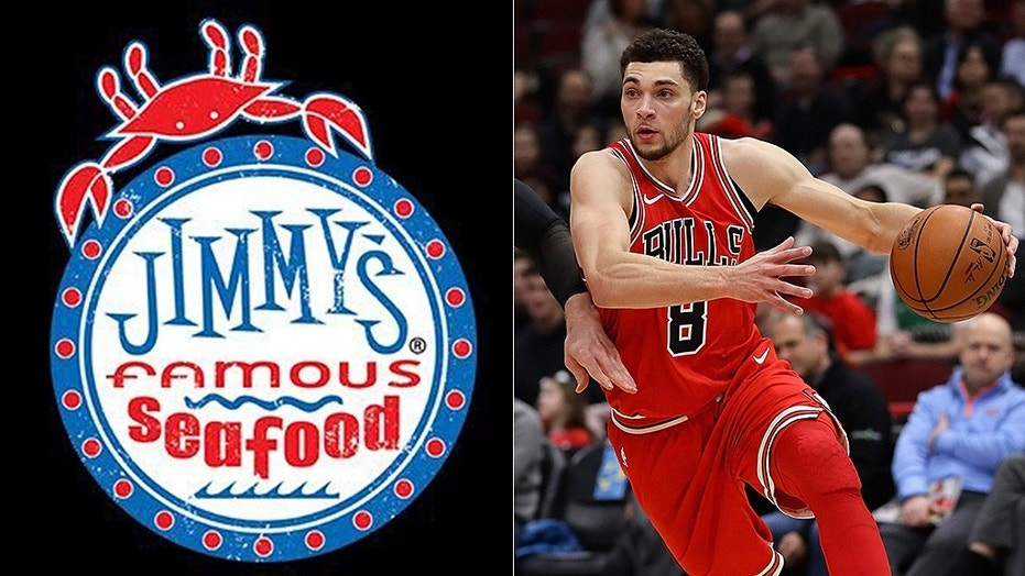 Jimmy's Famous Seafood took a shot at Zach LaVine on Twitter.