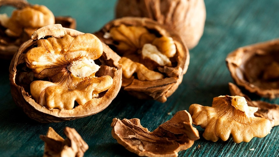 The man crushed 217 walnuts with his head in just 60 seconds.