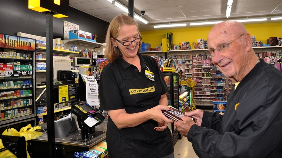 Bob Williams gets his chocolate from a local Dollar General, and makes sure to give a couple of bars to the folks who work there.