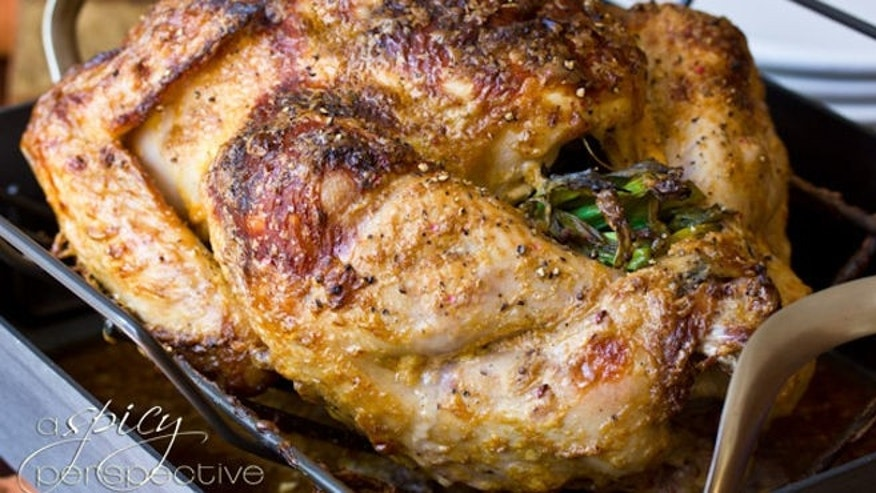 Whole Oven Roasted Turkey With Asian Herbs And Spices ...