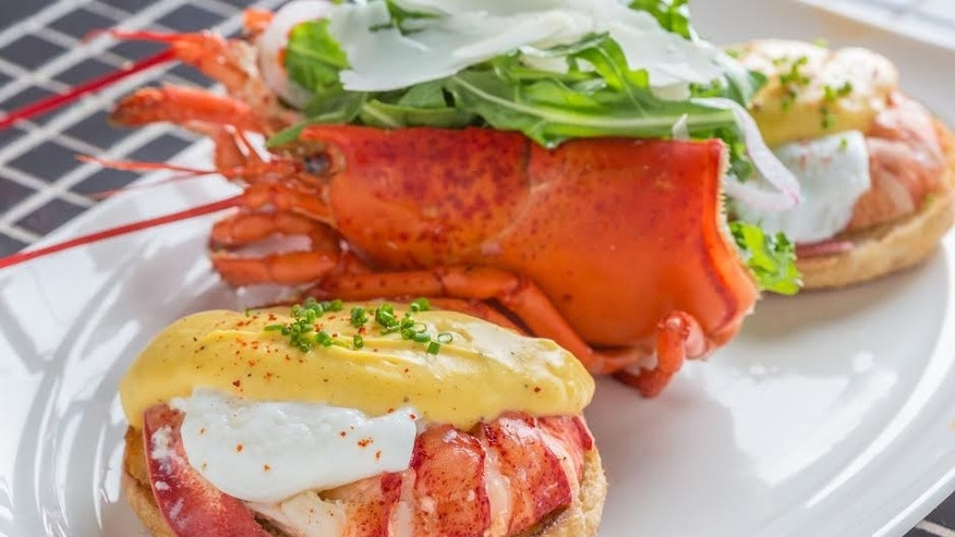 Lobster benedict is a featured brunch menu at LAVO restaurant in Las Vegas.