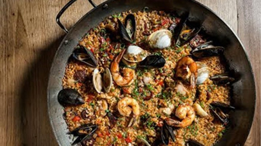 A crowd pleasing dish of paella.