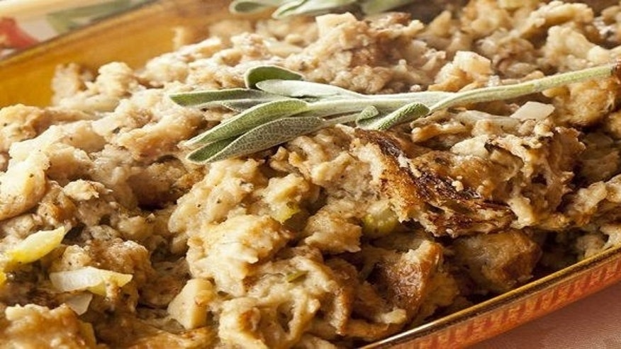 The amount of butter in the recipe may seem a bit over the top, but the end result is a rich stuffing that comes out buttery without being greasy, so you'll be glad you went for it.