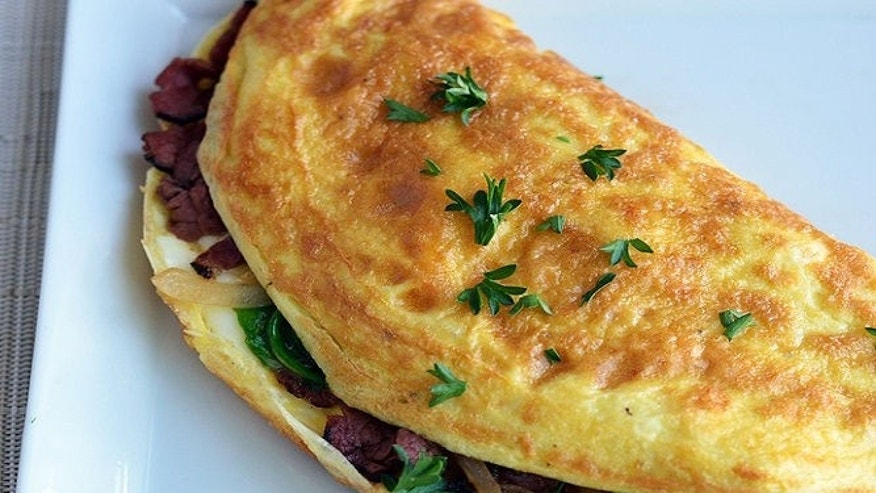 This hearty omelette is packed with plenty of protein; the ideal way to start your day.