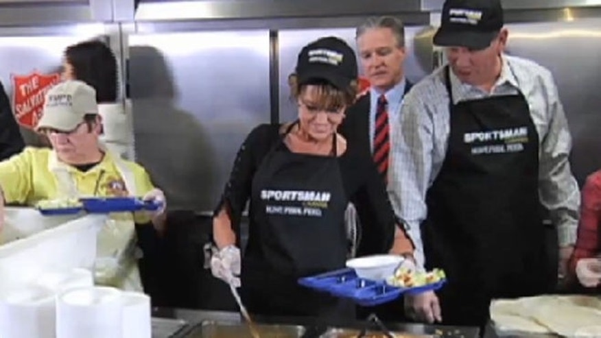 Sarah Palin whips up some unusual chili for fans.