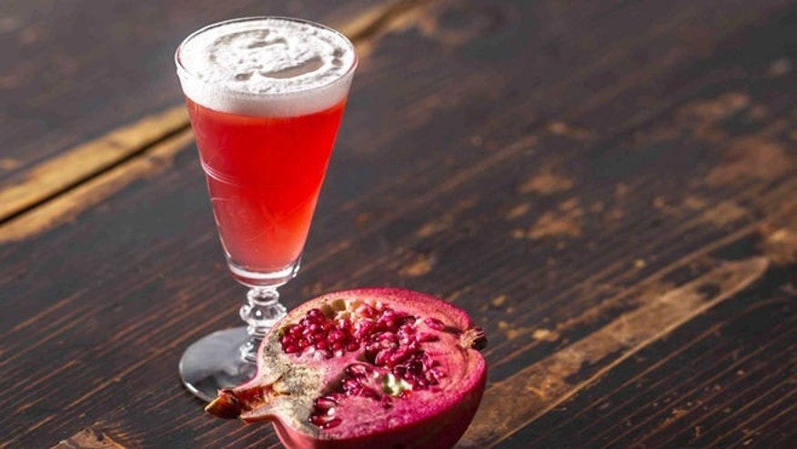 A pomegranate libation to celebrate Mother Earth and mom.